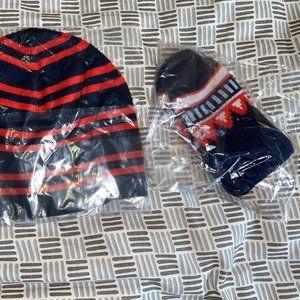 NWT TORY BURCH Merino Fair Isle Gloves & Hat Set